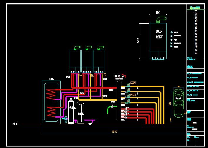 地暖施工-1楼              地暖施工设计图-2楼